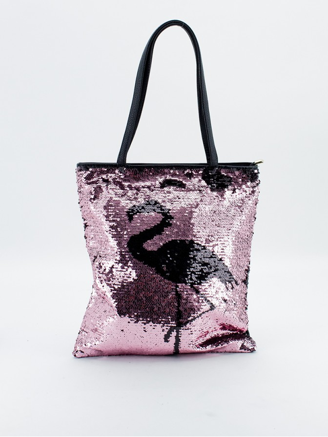 Bolso shopping lentejuelas flamenco