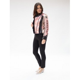 Chaqueta biker Highly Preppy metalizada